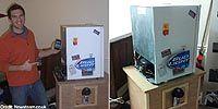 Холодильник стреляющий пивом