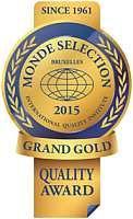 награду международного конкурса качества «Monde Selection 2015».
