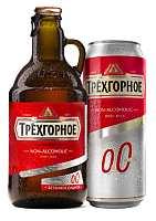 «Трехгорное Безалкогольное» оригинальные стеклянные бутылки