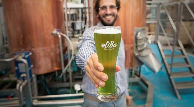 Оливковое пиво Oliba Green Beer
